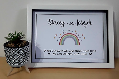 PERSONALISED A4 LOCKDOWN PRINT COUPLE