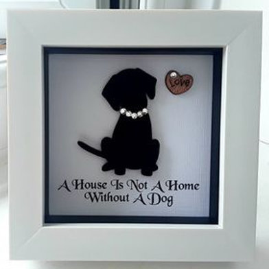 SILHOUETTE MINI A HOUSE IS NOT A HOME WITHOUT A DOG