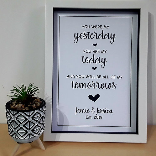 A4 YOU WERE MY YESTERDAY PRINT PERSONALISED