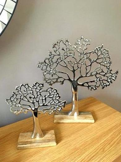 TREE OF LIFE ON WOODEN BLOCK 26.5cm