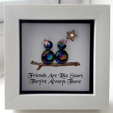 GLASS PEBBLE MINI FRIENDS ARE LIKE STARS