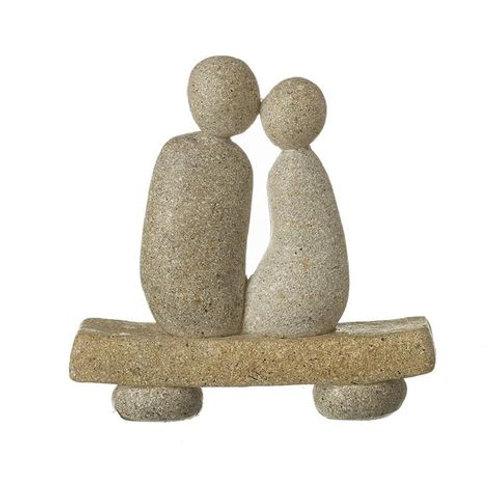 STONE COUPLE ON BENCH