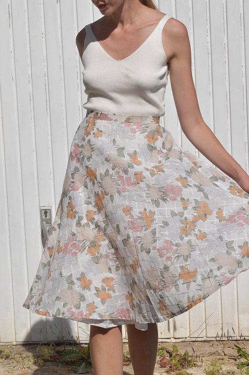 Floral midi skirt - Valence