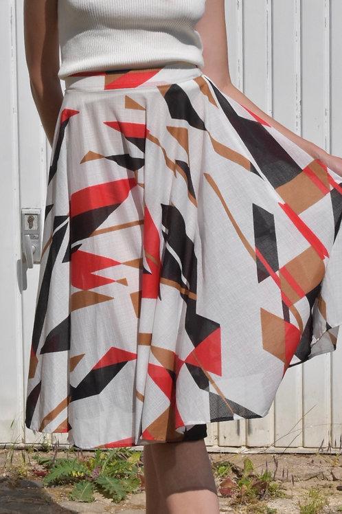 70's midi skirt - Corsica