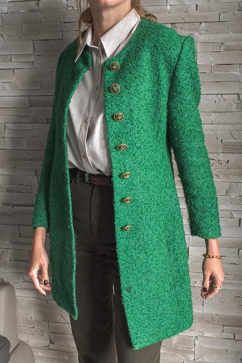 Long green jacket - Verbena