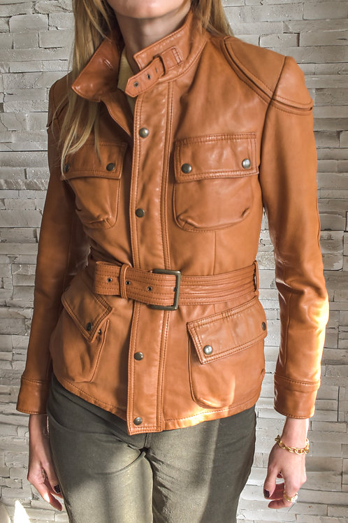 Belted Leather jacket - Aviator