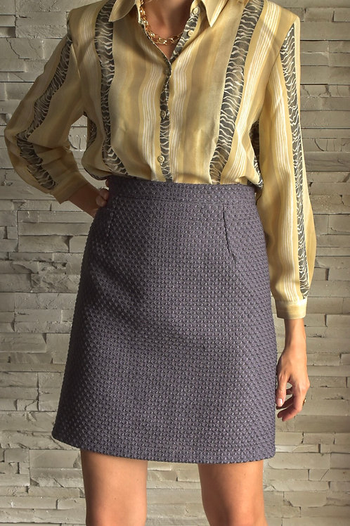 Soft violet tweed skirt - Tusday's rituals