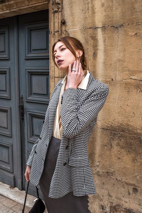 Ralph Lauren fitted blazer - Houndstooth