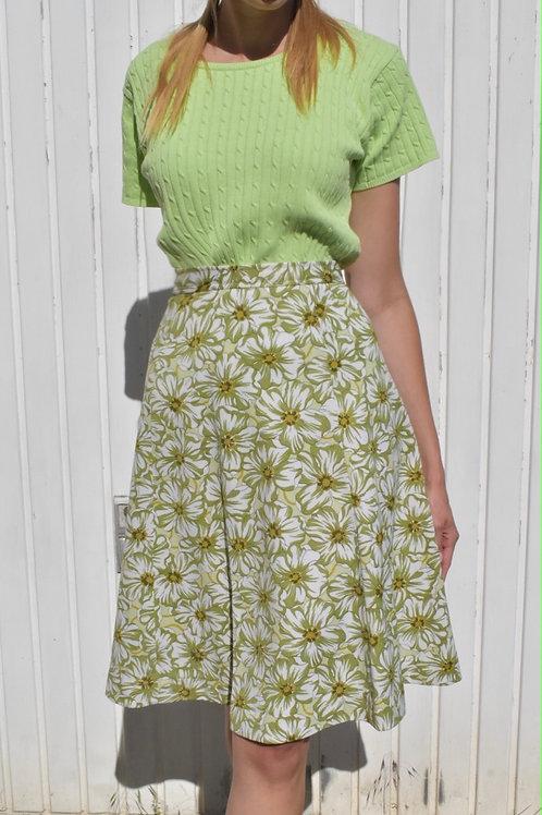 Floral midi skirt - Vert du bonheur