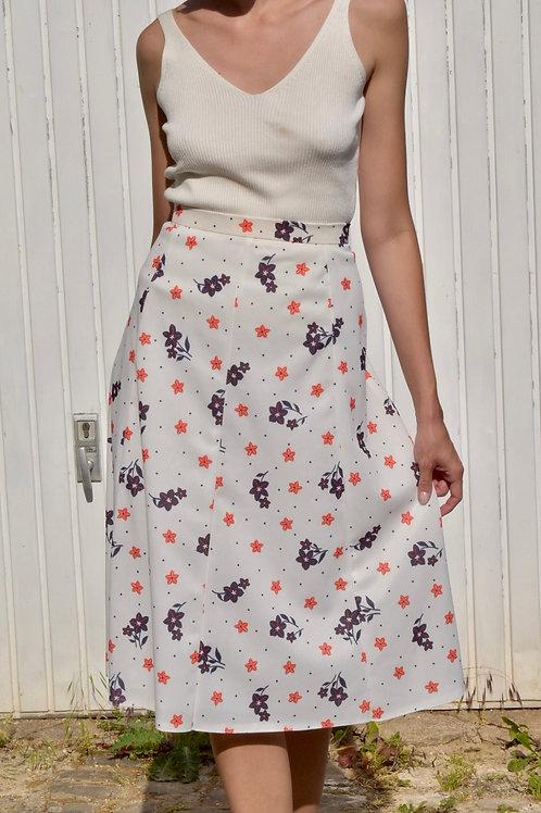 50's floral midi skirt - Frederica