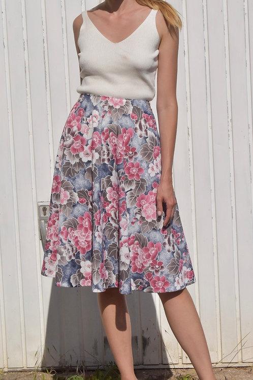 50's Floral midi skirt - Martina