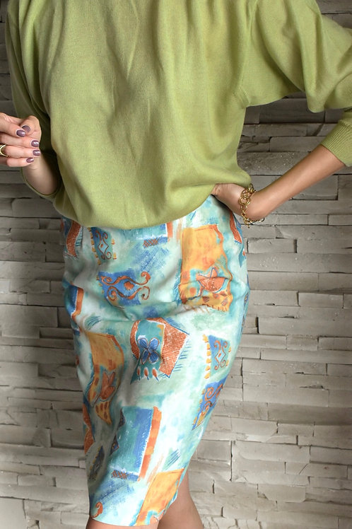 new 80's vintage skirt - Shells and creatures
