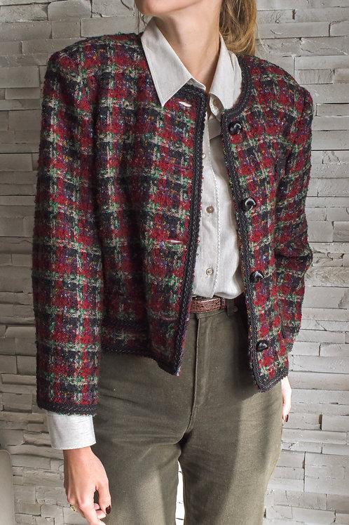 Tweed cropped jacket - Al pacchio