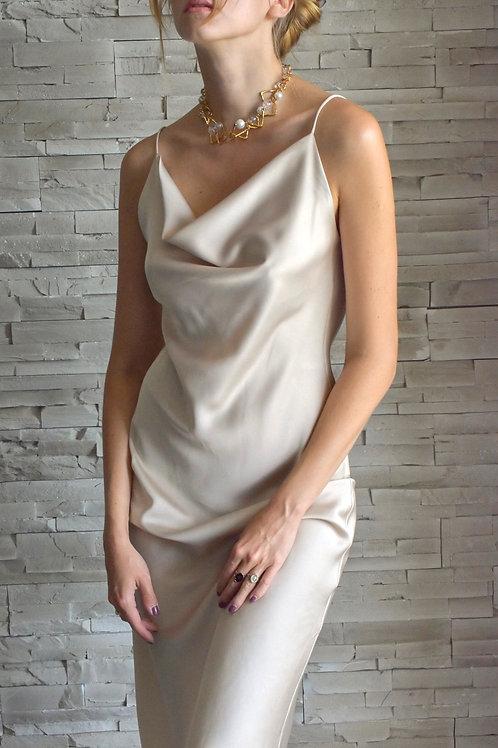 Moonlight Slip dress - Champagne