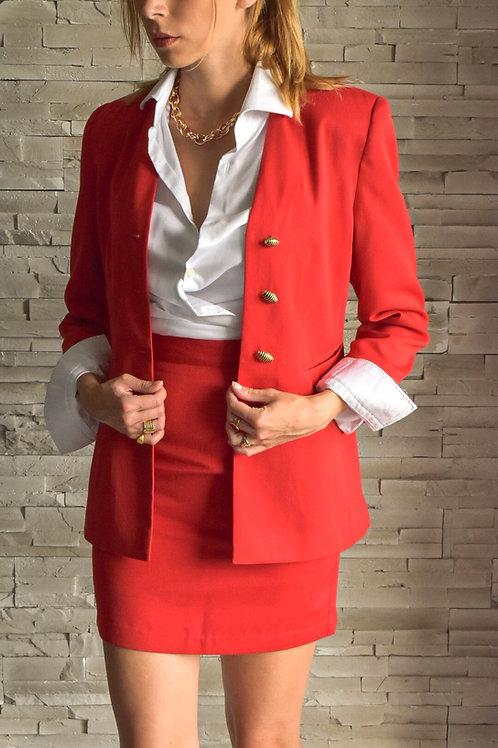 80's Red mini skirt set - boss's left
