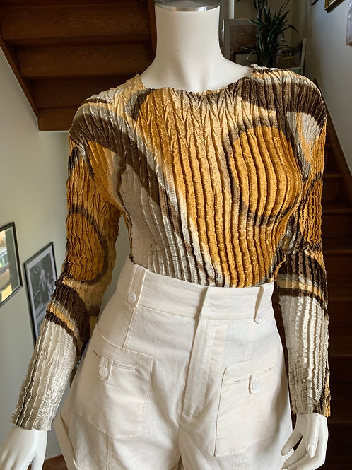 Ribbed blouse with long sleeves - Regine