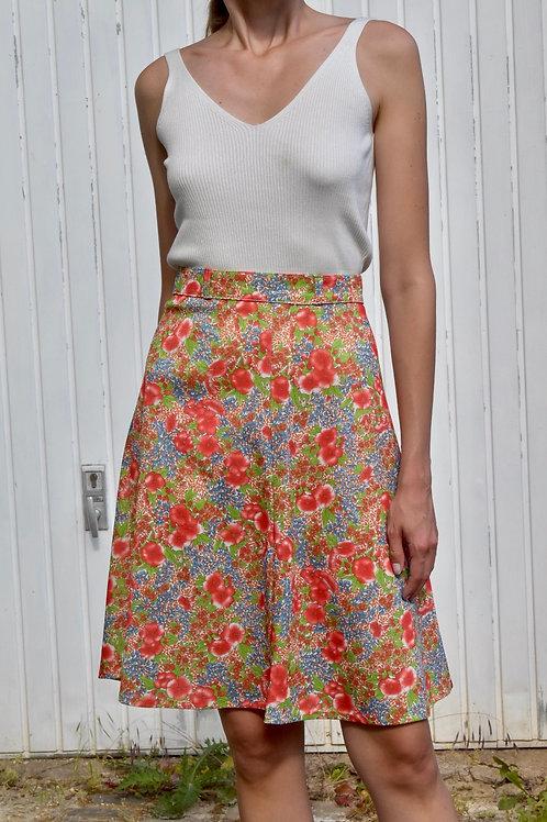 Floral midi skirt - Poppies