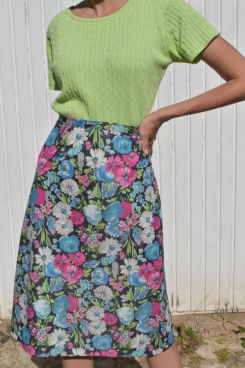 Floral midi skirt - Champs sauvage