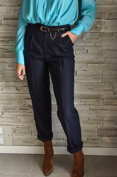 Navy wool trousers - Alison