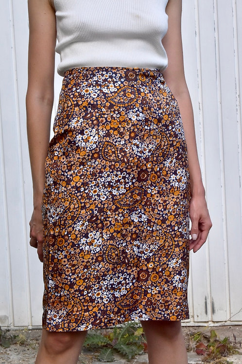 Floral pencil skirt - Kelly