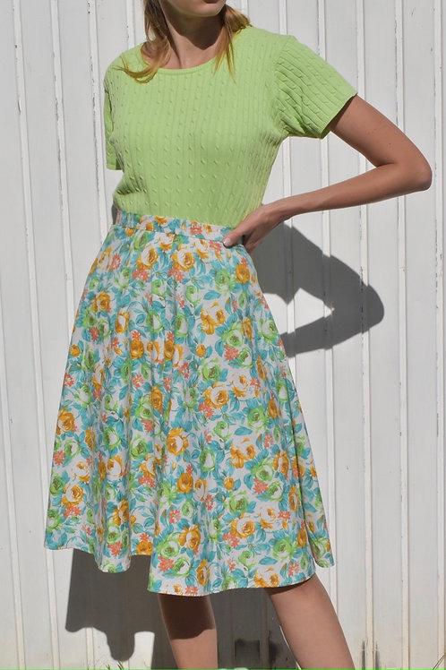Floral midi skirt - Folie floralle