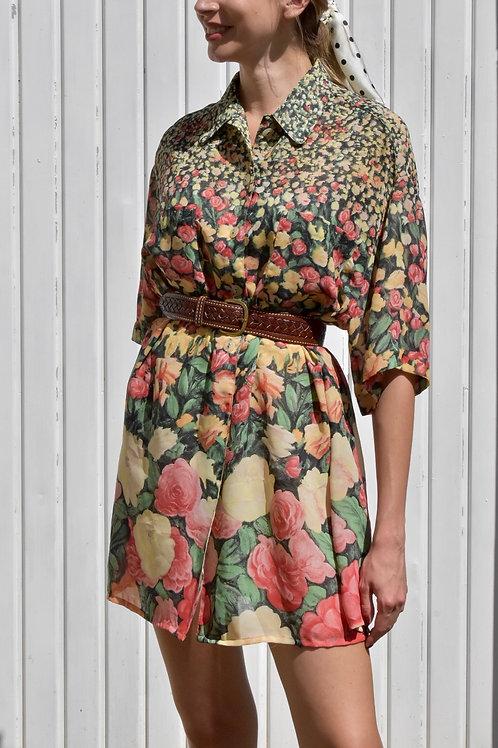 Floral Shirt-dress - Constance