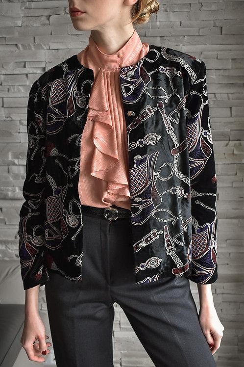 Velvet emboidered jacket - Jocker in Poker