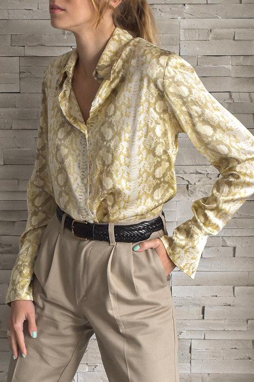 Silk blouse - snake glamour