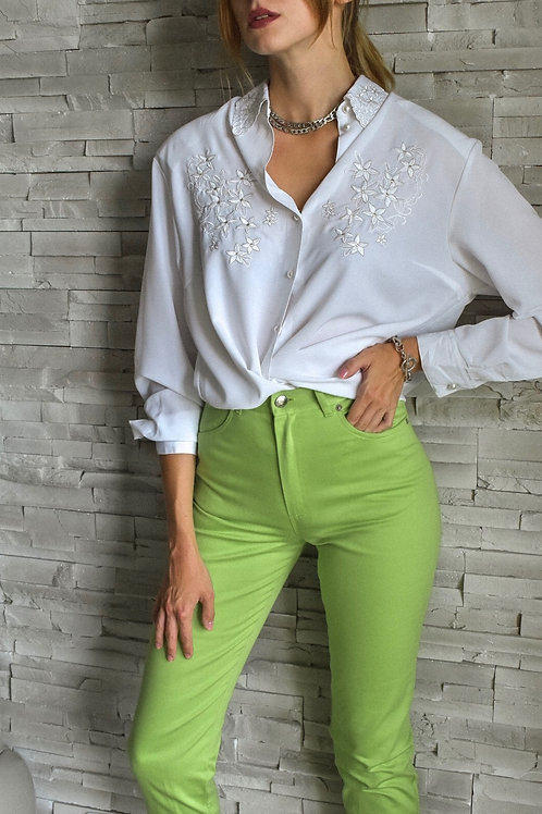 High waisted trousers - Guess green