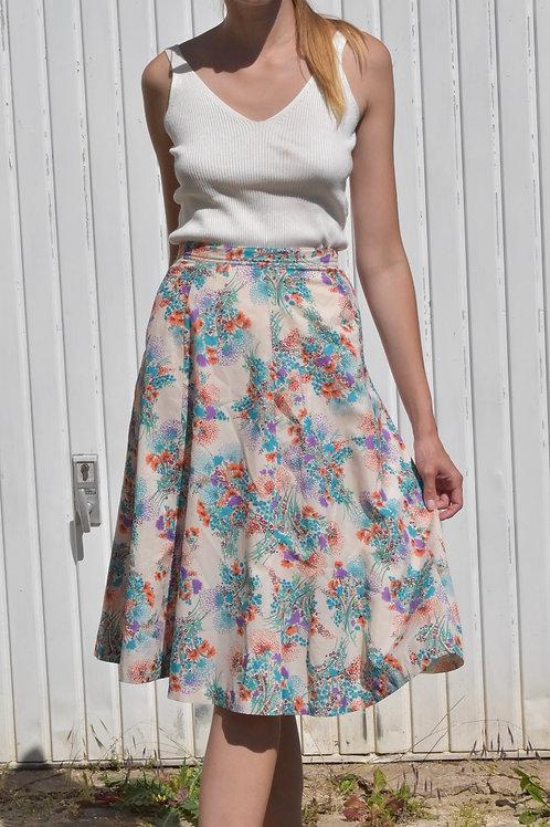 50's Floral midi skirt - Clarisse