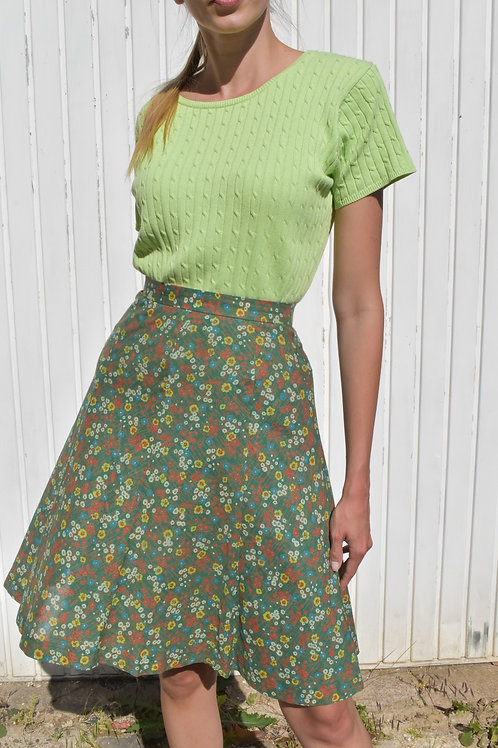 Floral midi skirt - Picnic day