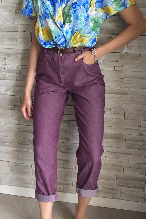 High waist jeans - Purple rain