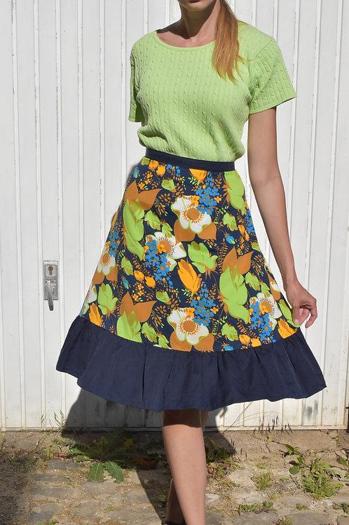 Floral midi skirt - Mer de fleurs
