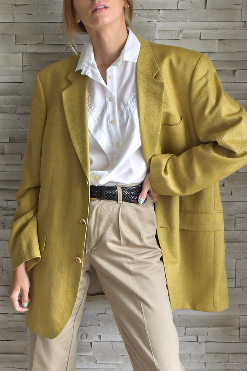 Yellow oversized wool blazer - Majorca