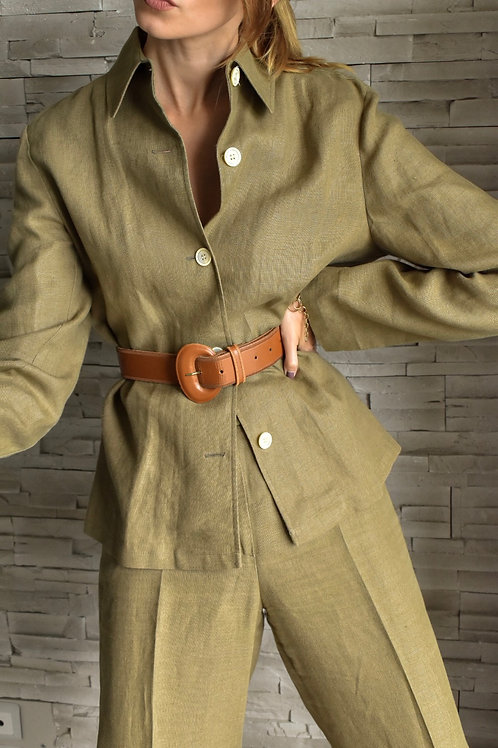 Linen casual pant suit - Poet's dream
