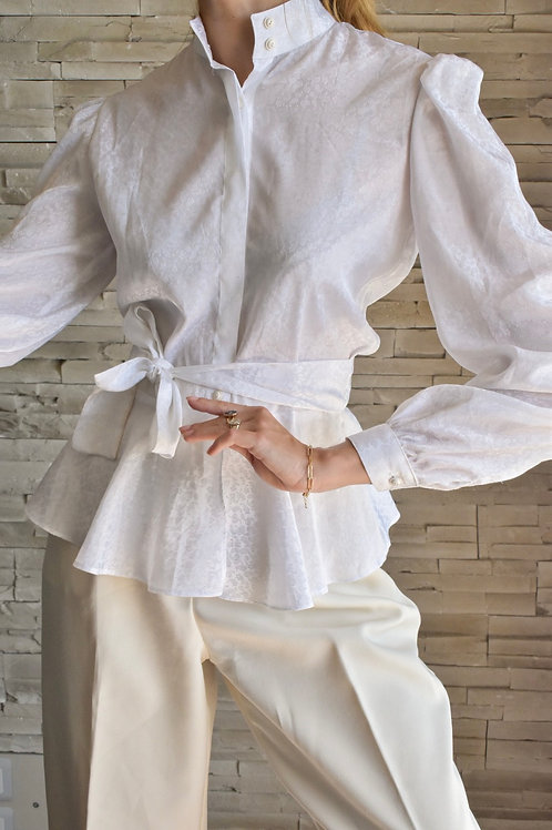 White blouse with tied waist - Chinatown