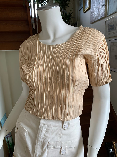 Ribbed blouse - Golden hour