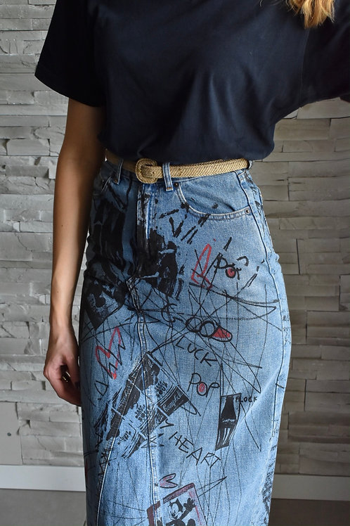 Denim skirt - Let's chat to luck