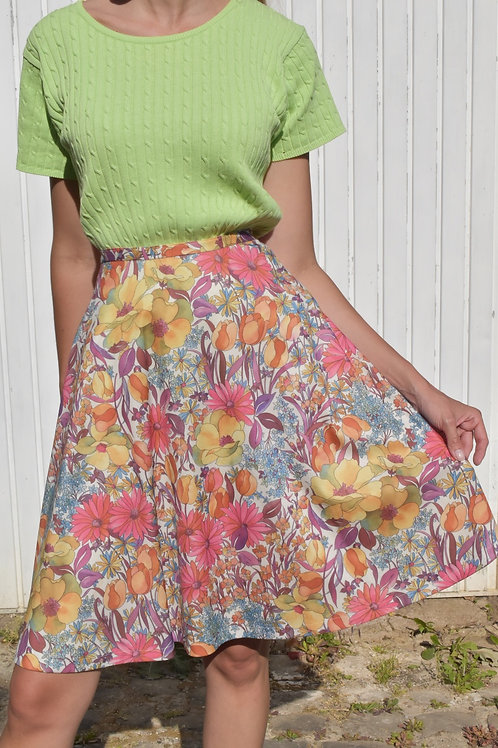 Floral midi skirt - L'air de Provance