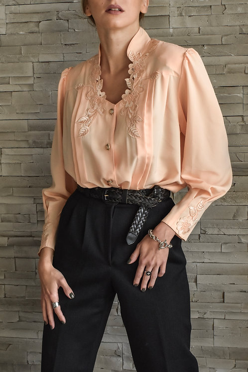Embroidered blouse - Peach marshmallow