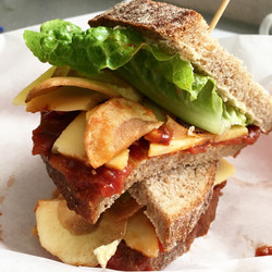 Cheese crisp sandwich