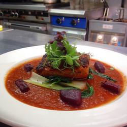 Rosti with smoked tomato sauce