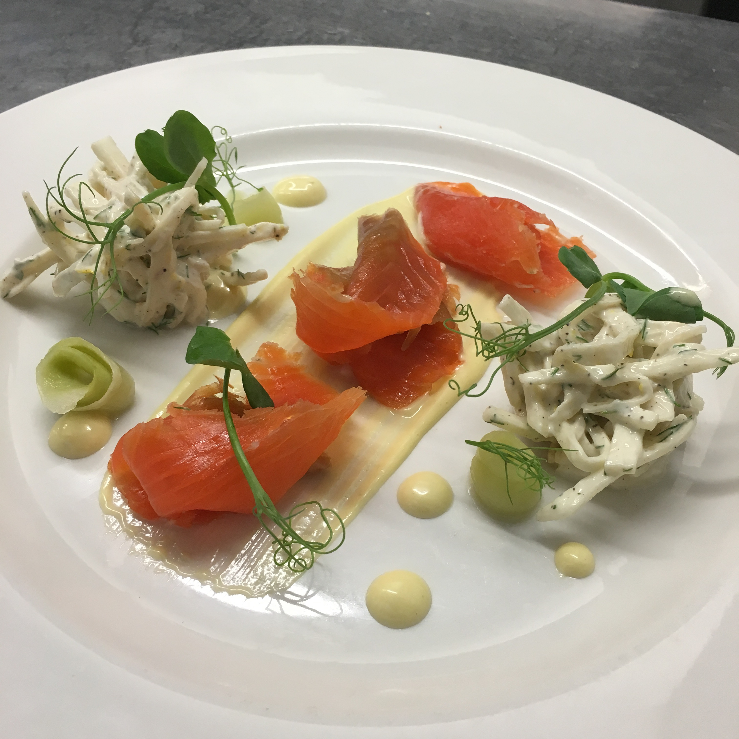 Gin cured sea trout