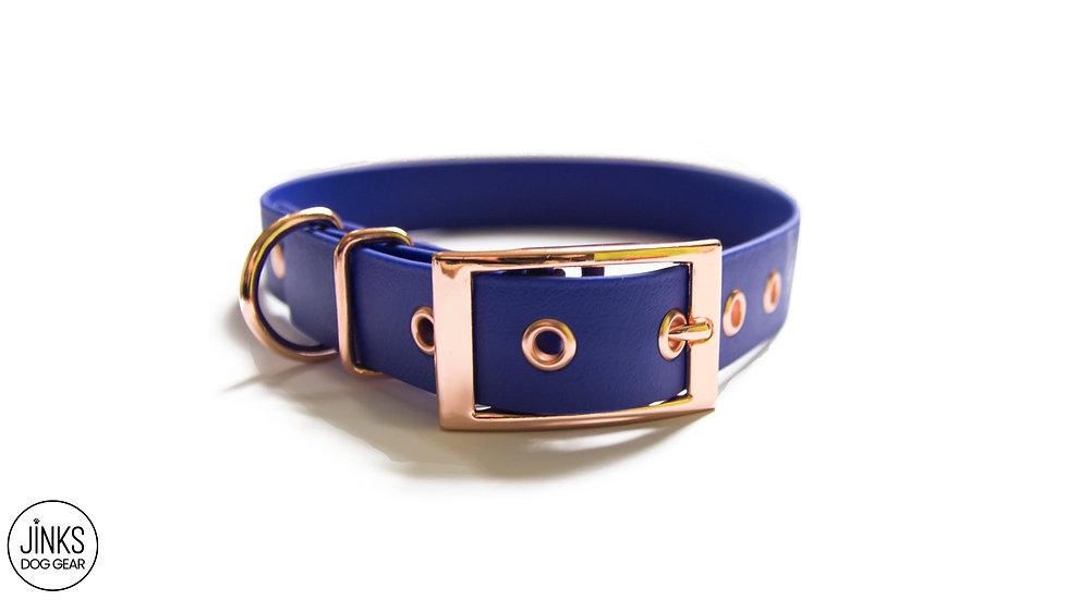 Pre-made 25mm wide Adjustable BioThane® dog collar
