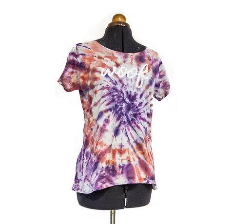 Ladies custom tie-dye t- shirt
