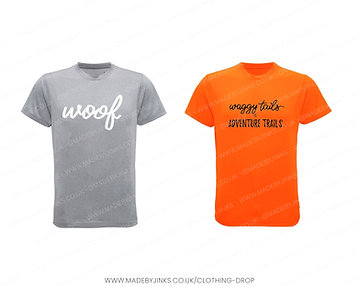 Kids sports/dog walking t-shirts