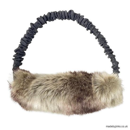 Ring bungee faux-fur tuggies