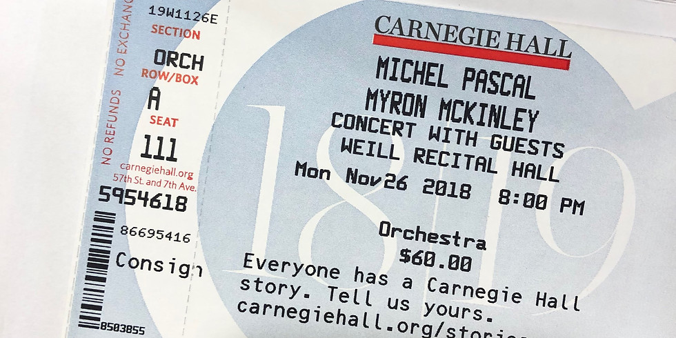 Michel Pascal & Myron McKinley Concert With Guests