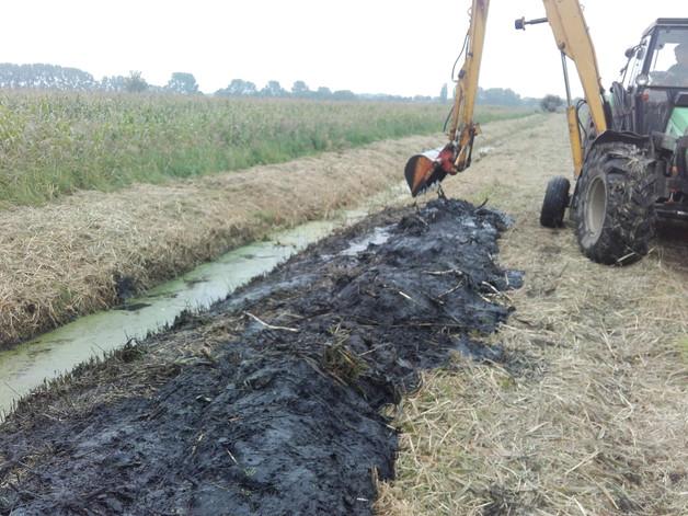 Grundräumung eines Gewässers (Graben)
