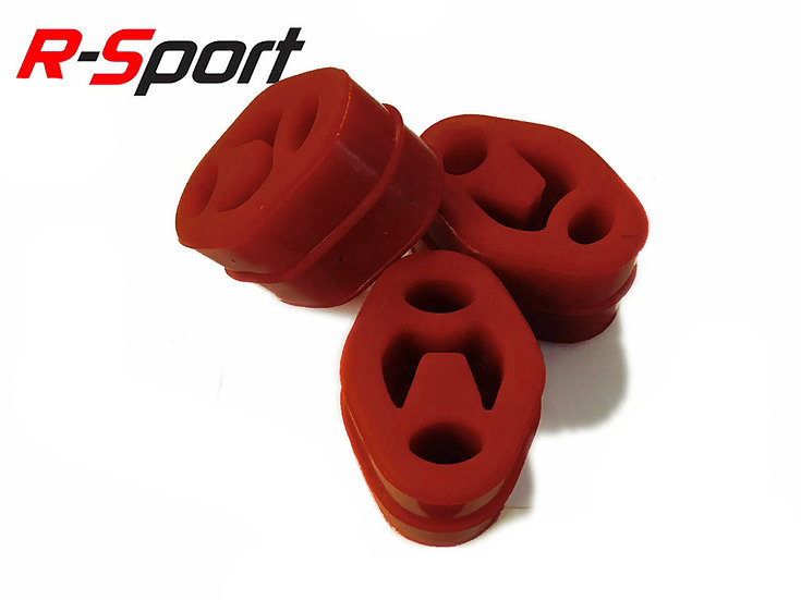 R-Sport Red Uprated Silicone Exhaust Mount Set Focus Mk3 ST (250PS)